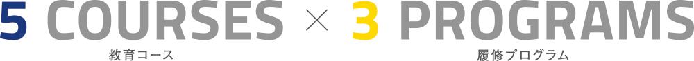 5教育コースX3履修プログラム