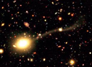 大銀河に壊される矮小銀河
