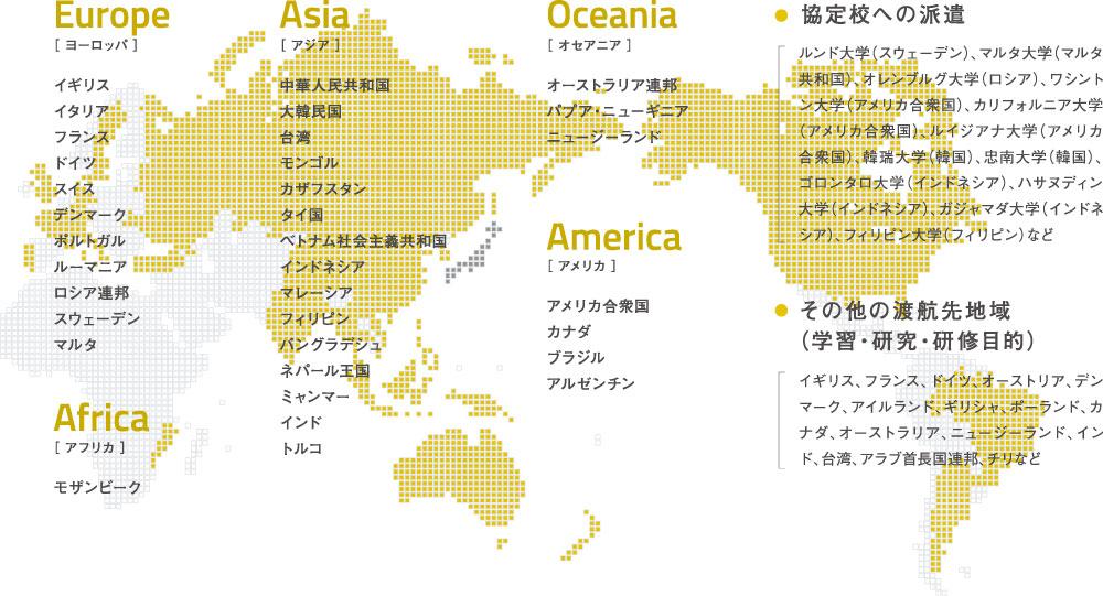 国際交流協定締結国